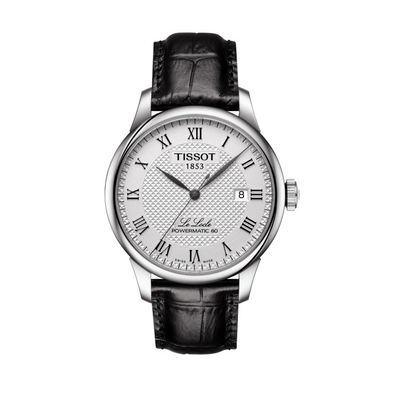 Tissot Le Locle Powermatic 80 Leather Automatic Watch T0064071603300