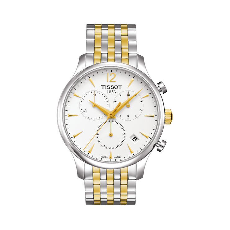 Tissot Tradition Two-Tone Chronograph Mens Watch T0636172203700