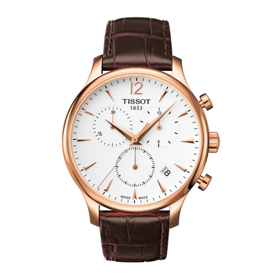 Tissot Tradition Brown Chronograph Mens Watch T0636173603700