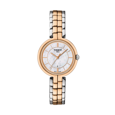 Tissot Flamingo Two-Tone Ladies Watch T0942102211100
