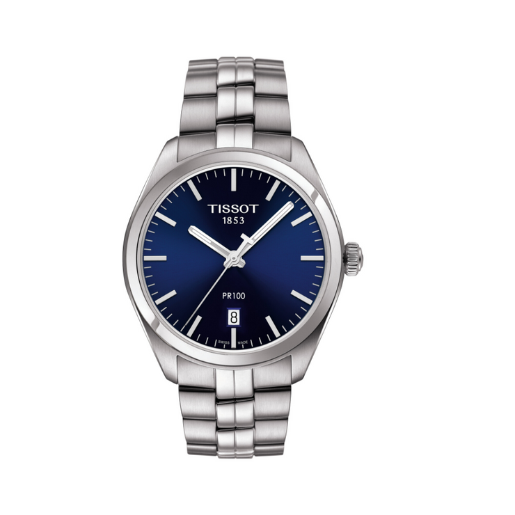 Tissot PR100 Steel Blue Mens Watch T1014101104100