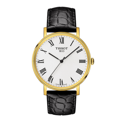 Tissot Everytime Mens Black and Gold Watch T1094103603300