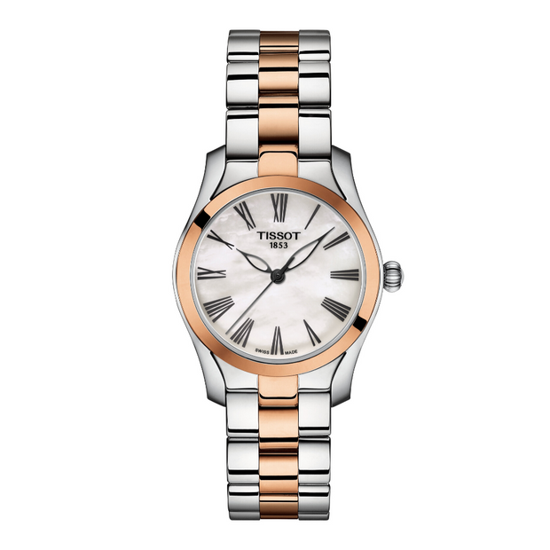 Tissot T-Wave Two-Tone Ladies Watch T1122102211301