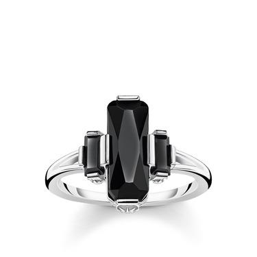 Thomas Sabo Black Onyx Silver Ring TR2267-641-11