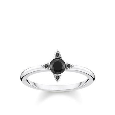 Thomas Sabo Black Stacking Silver Ring TR2268-643-11