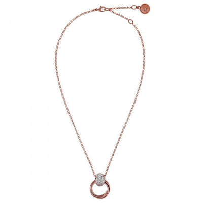Bronzallure Multicircles Cubic Zirconia Necklace