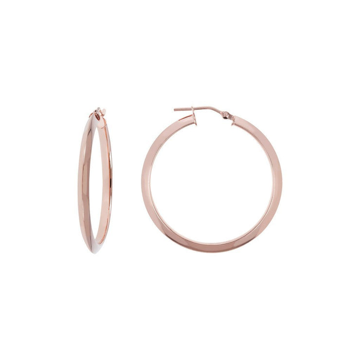 Bronzallure Classic Rose Gold Hoop Earrings
