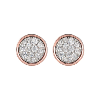 Bronzallure Minimal Pave CZ Earrings