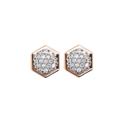 Bronzallure Cubic Zirconia Hexagon Earrings