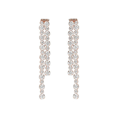 Bronzallure Tennis Drop Earrings