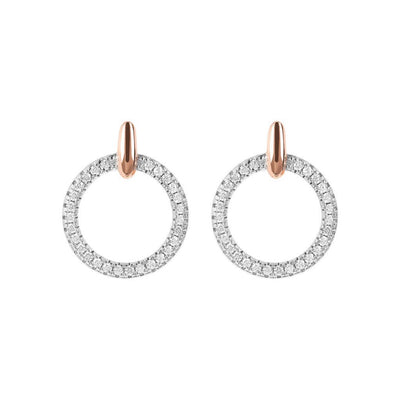 Bronzallure Small Circle CZ Earrings