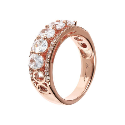 Bronzallure Altissima CZ Band Ring