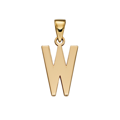 9ct Gold 'W' Initial Pendant