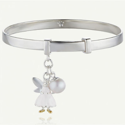 Molly Brown White Fairy Wish Bangle MB55-4