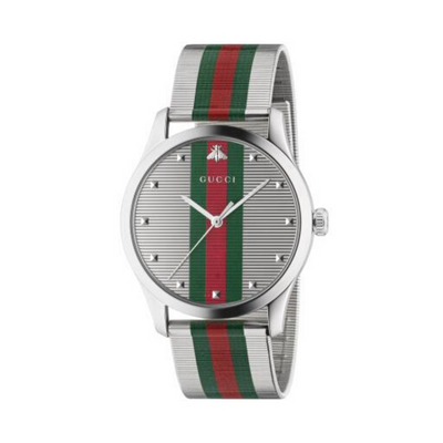 Gucci G-Timeless Striped Mens Watch YA126284