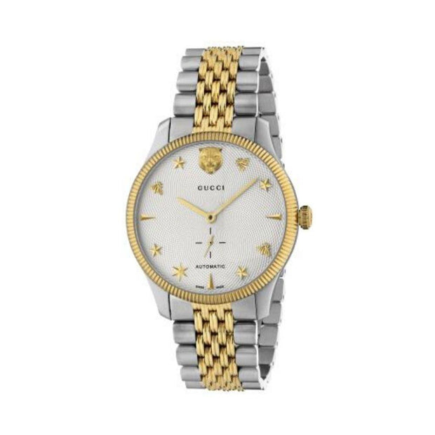 Gucci G-Timeless Two-Tone Automatic Watch YA126356
