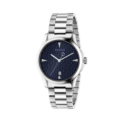 Gucci G-Timeless Stainless Steel Blue Watch YA1264025A