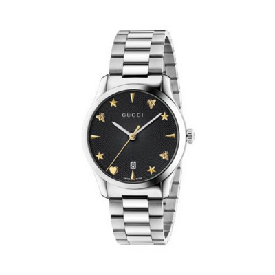 Gucci G-Timeless Black Dial Steel Watch YA1264029A