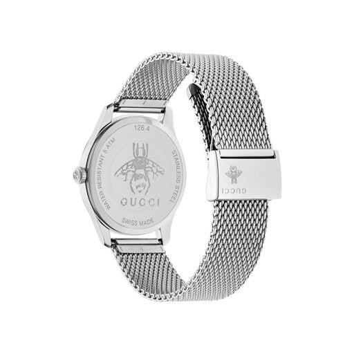 Gucci G-Timeless Steel 36mm Mesh Bracelet Ladies Watch YA1264040