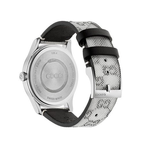 Gucci G-Timeless Grey GG logo Ladies Watch YA1264058