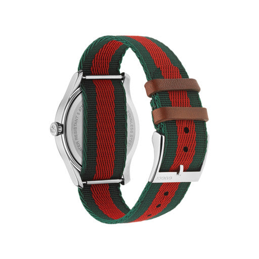 Gucci G-Timeless Bee Motif Fabric Strap Unisex Watch YA1264060