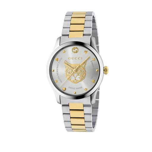 Gucci G-Timeless Feline Head Motif Watch YA1264074