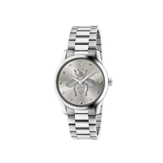 Gucci G-Timeless Steel Bee Motif Unisex Watch YA1264126