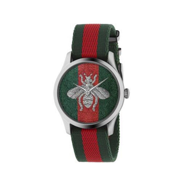 Gucci G-Timeless Bee Motif Fabric Watch YA1264148
