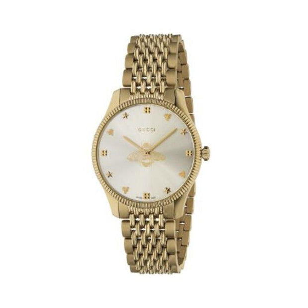 Gucci G-Timeless Gold Bee Motif Ladies Watch YA1264155