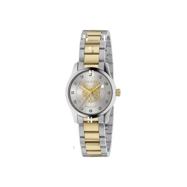 Gucci G-Timeless Feline Head Motif Watch YA1265016