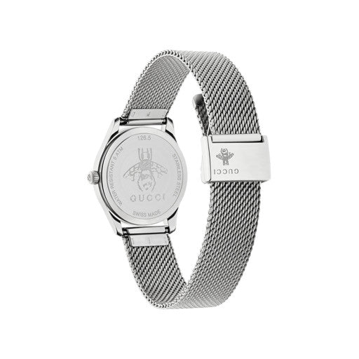 Gucci G-Timeless Steel 29mm Mesh Bracelet Ladies Watch YA126583