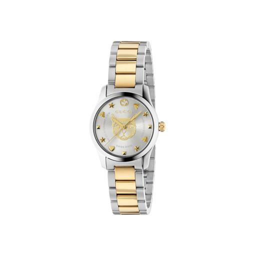 Gucci G-Timeless Gold Feline Head Motif Ladies Watch YA126596