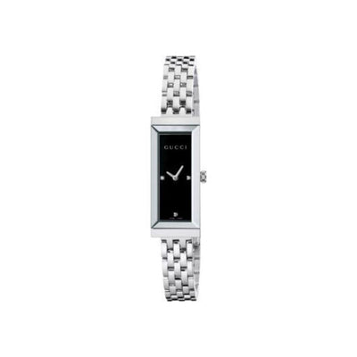 Gucci G-Frame Steel Black Dial Ladies Watch YA127504