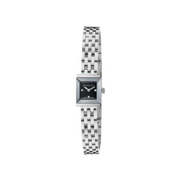 Gucci G-Frame Steel Square Ladies Watch YA128507