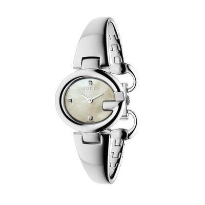 Gucci Guccissima Mother of Pearl Steel 27mm Ladies Watch YA134504