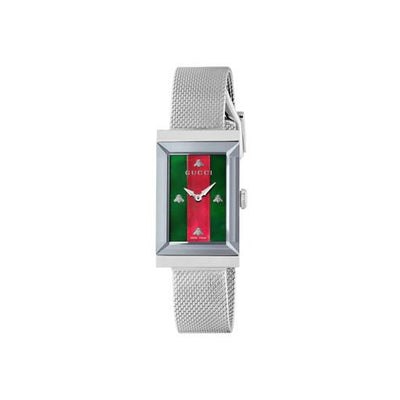 Gucci G-Frame Steel Mesh Ladies Watch YA147401