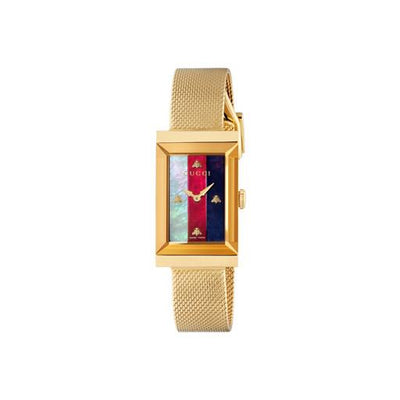 Gucci G-Frame Gold Mesh Ladies Watch YA147410