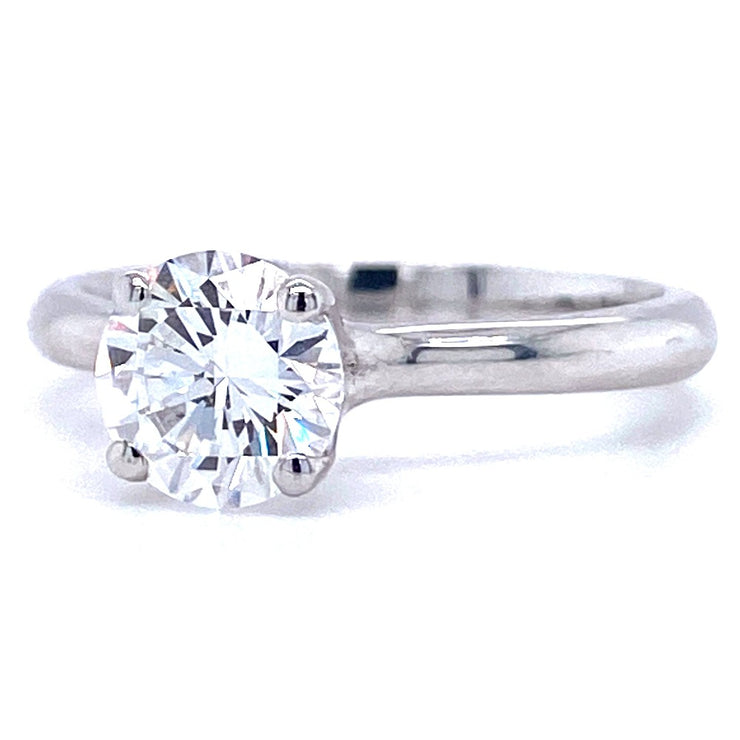 18ct White Gold 1.03ct Round Brilliant Solitaire Engagement Ring
