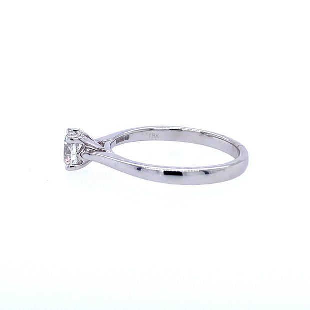18ct White Gold 0.50ct Solitaire Engagement Ring