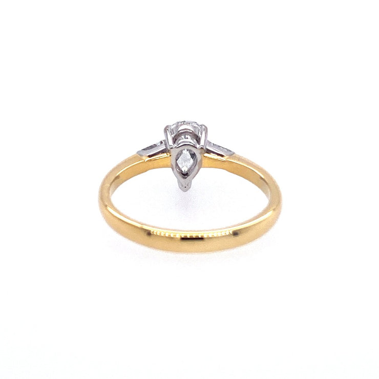 18ct Yellow Gold Pear Solitaire Engagement Ring