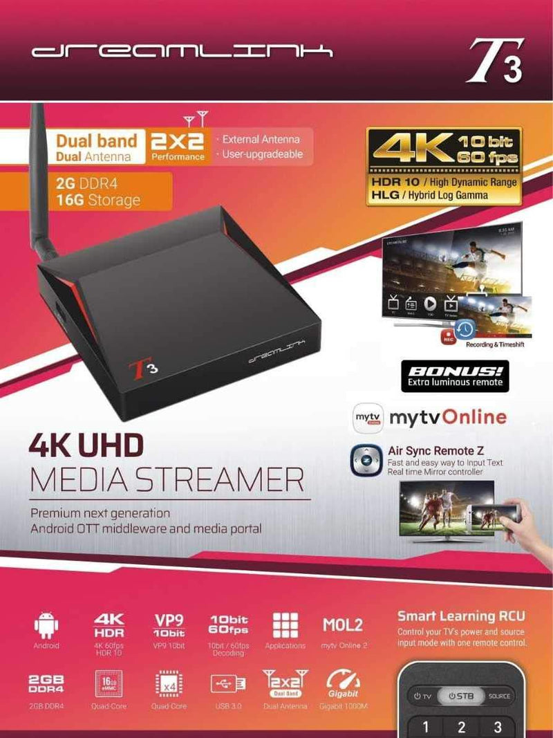 DREAMLINK T3 ULTIMATE 4K UHD 2GB DDR4 + 16GB | DUAL BAND GIGABIT WIFI - Dreamlink Formuler Store - Products Online Shopping in USA & Canada
