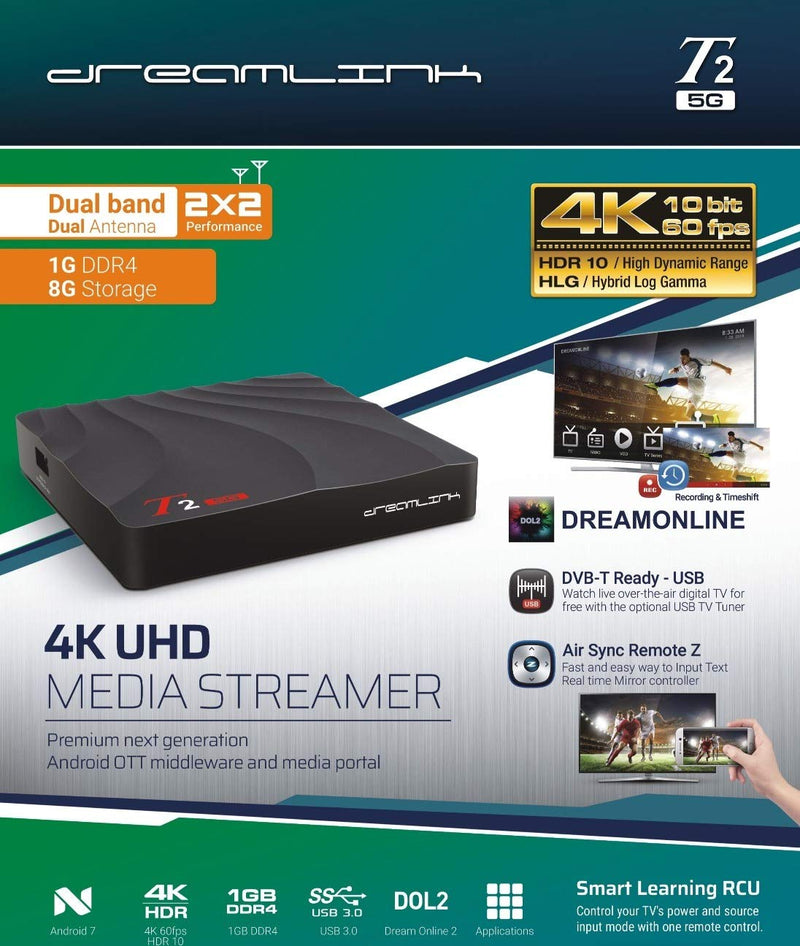 DREAMLINK T2 5G [DUAL BAND WIFI] 1GB RAM 4K IPTV & ANDROID 7.0 - Dreamlink Formuler Store - Products Online Shopping in USA & Canada