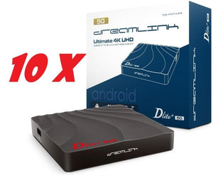 { PACKAGE OF 10} DREAMLINK DLITE+ 5G [DUAL BAND WIFI] 1GB DDR4 4K IPTV & ANDROID - Dreamlink Formuler Store - Products Online Shopping in USA & Canada