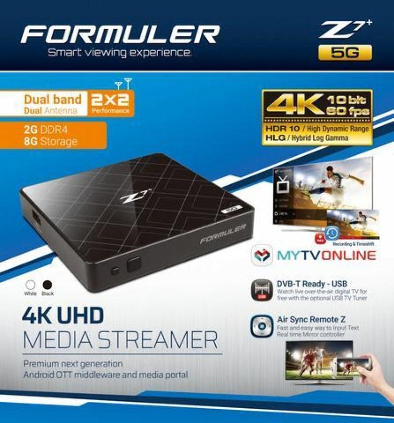 FORMULER Z7+ 5G [DUAL BAND WIFI] 2GB RAM 4K IPTV & ANDROID 7.0 - Dreamlink Formuler Store - Products Online Shopping in USA & Canada