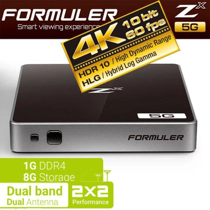 FORMULER ZX 5G [DUAL BAND WIFI] 1GB RAM 4K IPTV & ANDROID 7.0 - Dreamlink Formuler Store - Products Online Shopping in USA & Canada