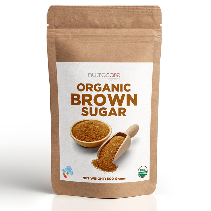 NutraCare Organics Brown Sugar Pouch, 500 g