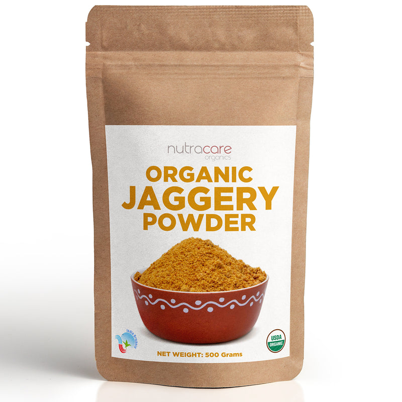 NutraCare Organics Jaggery Powder Pouch, 500 g