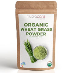 NutraCare Organics Wheatgrass Powder Pouch, 500 g