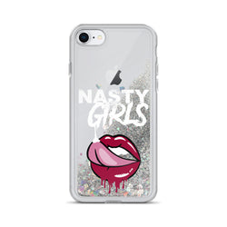 Nasty Girls Liquid Glitter iPhone Case