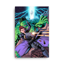 Hulk/Black Widow Canvas